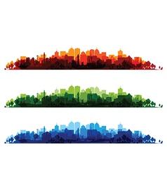 cityscape overprint vector image vector image