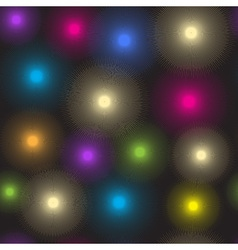 Seamless pattern of luminous colorful spots vector