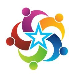 Teamwork Star vector image