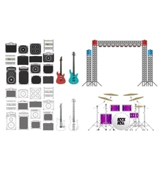 Big Concert and Festival Stage Set vector image