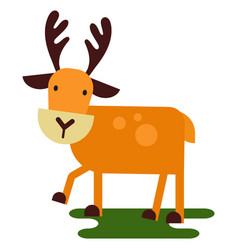 christmas cute reindeer haracter new year vector image