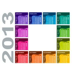 Colorful calendar 2013 vector image