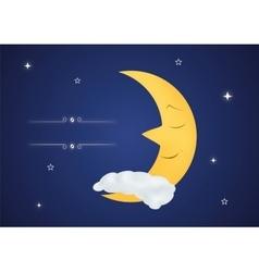 Fairytale sleeping moon vector image