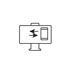 phone computer connection icon vector image vector image