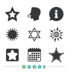 Star of david icons symbol of israel vector