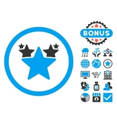 Hit Parade Flat Icon with Bonus vector image vector image
