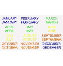 Set for the calendar month vector image