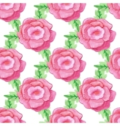 Watercolor handdrawn rose flowers seamless vector image