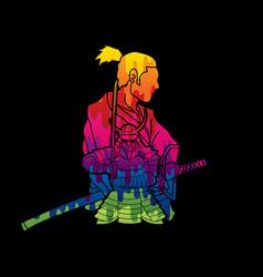 2 samurai composition vector