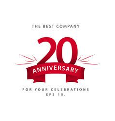 20 year anniversary template design vector