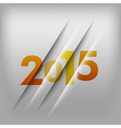 2015 numbers orange vector