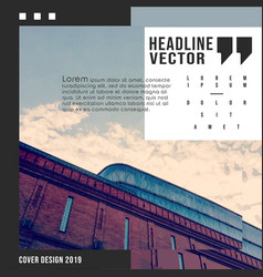abstract architecture background design for vector image