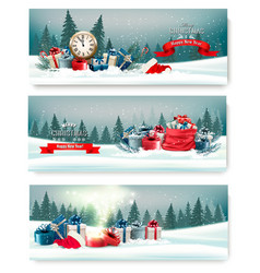 abstract holiday christmas background with snowfla vector image