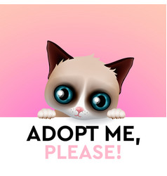 Adopt me cute cartoon character help animal vector