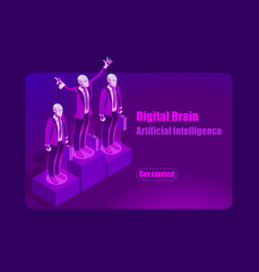 artificial intelligence template vector image vector image