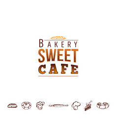 badge for small businesses - sweet bakery the vector image