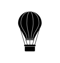 ballon black icon vector image