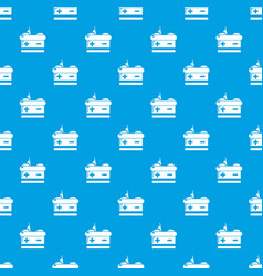 battery pattern seamless blue vector image