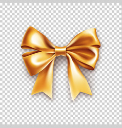Beautiful gold ribbon bow isolated on white vector