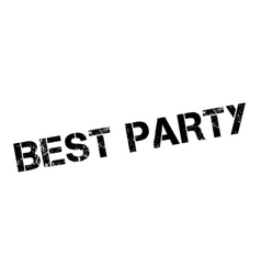 Best Party rubber stamp vector