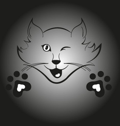 Blinking cat vector