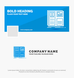 blue business logo template for design grid vector image