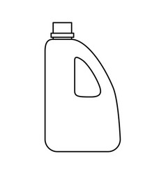 bottle plastic object vector image