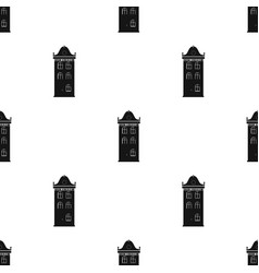 Building icon in black style isolated on white vector