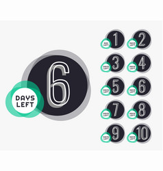 Bumber of days left countdown timer banner vector