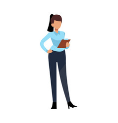 businesswoman character young business woman vector image