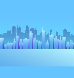 cityscape with skyscrapers city view panorama of vector image