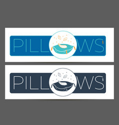 Cleaning pillows 2 linear style vector
