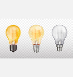 collection decorative light bulbs lamps vector image