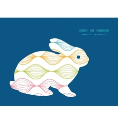 colorful horizontal ogee bunny rabbit vector image