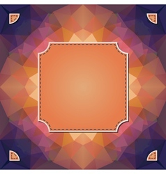 Colorful kaleidoscope background with label vector