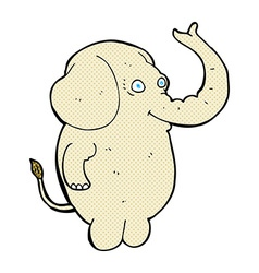 Comic cartoon funny elephant vector