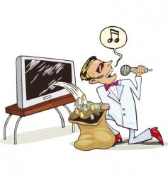 copyrights profit vector image
