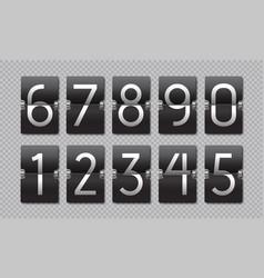 Countdown black flip clock scoreboard retro panel vector