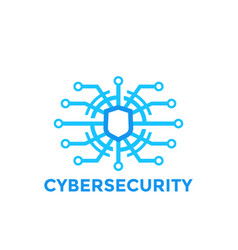 Cyber security logo template vector