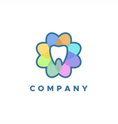 dent flower logo vector image