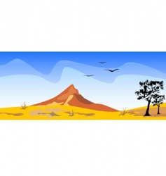 Desert scenery vector