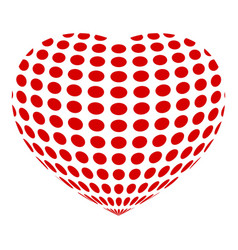 dotted abstract heart icon simple style vector image