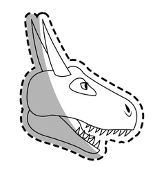 Dragon cartoon icon vector
