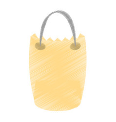 Drawing bag gift delivery vector