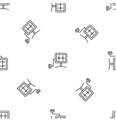 eco energy device pattern seamless vector image