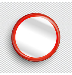 Empty circle banner or button vector