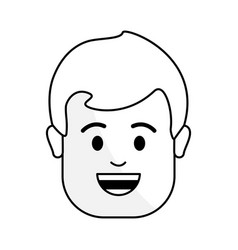 figure people happy face man icon vector image
