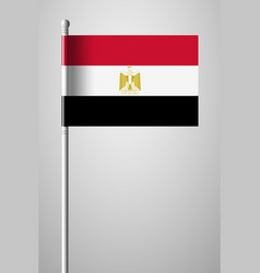 flag egypt national flag on flagpole isolated vector image