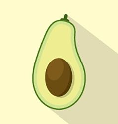 Flat Design Avocado Icon vector image