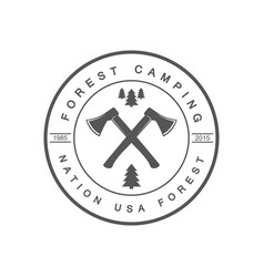 forest camping logotype vector image